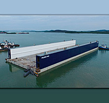 CONCRETE FLOATING DRY DOCK
